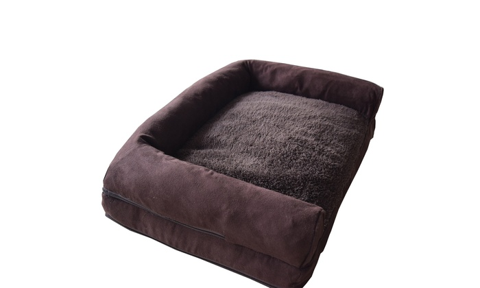 Fabulous Plush Suede Pet Soft Warm Sofa Dog Bed Cushion Groupon Short Links Chair Design For Home Short Linksinfo