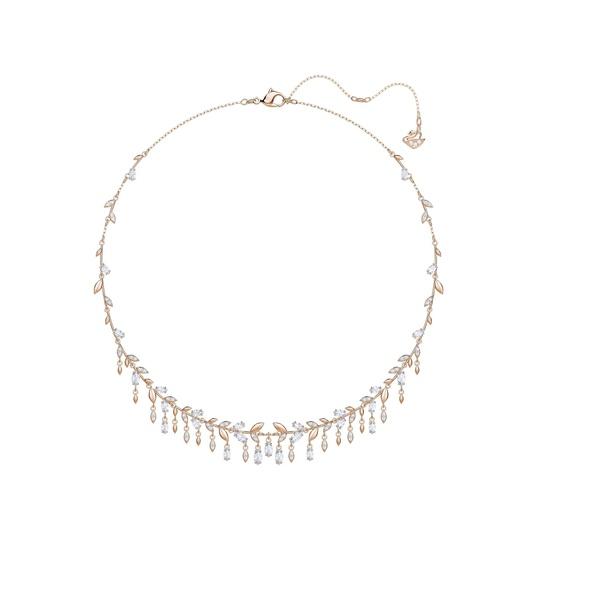 d1c747aa05a70 Swarovski Mayfly Necklace - Large - White - Rose gold plating 5409354
