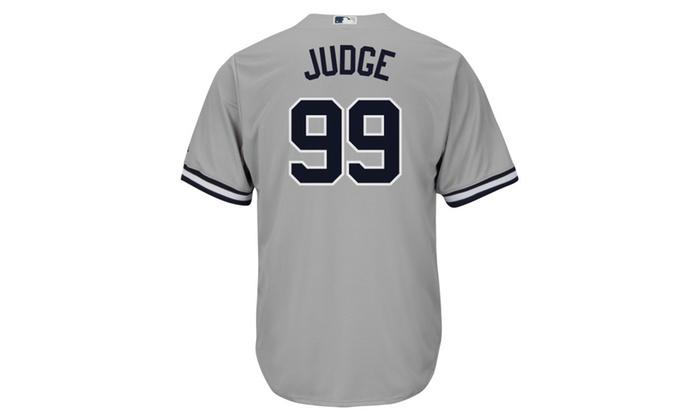 buy popular b4e2d 4a6d0 Mens New York Yankees Aaron Judge Gray Road Flex Base ...