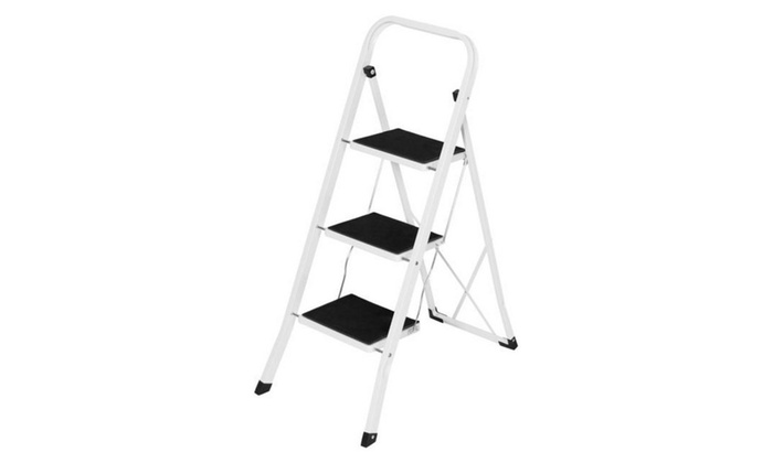 Folding 3 Step Ladder Steel Stool