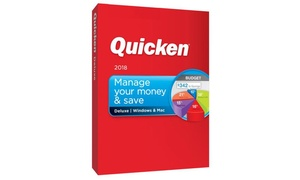 Quicken Deluxe 2018 Software for Windows and Mac