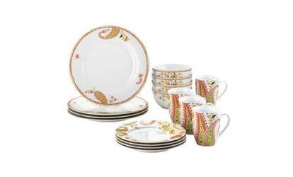 Shop Groupon Rachael Ray Dinnerware Paisley 16pc Porcelain Dinnerware Set  sc 1 st  Groupon & Dinnerware - Deals u0026 Coupons | Groupon