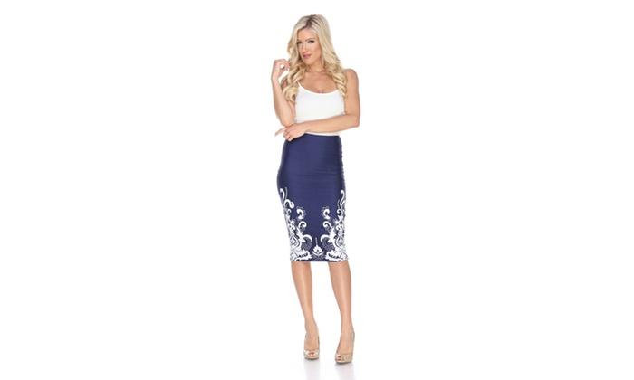 Navy  Jordan Pencil Skirt