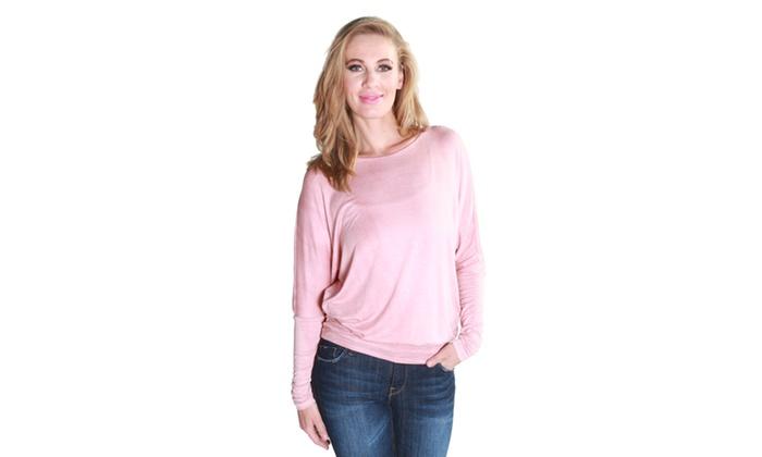 Xehar Women's Casual Stylish Drape Tunic Top