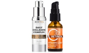 MedPeel Vitamin C30X Retinol and Daily Collagen Complex (2-Pack)
