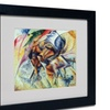 Umberto Boccioni 'Dynamism of a Cyclist 1913' Matted Black Framed Art