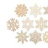 Christmas Decoration-Wooden Snowflake (10pcs)
