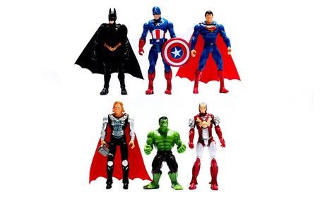 6Pcs Avenger Action Figure Toy Hulk Captain America Thor Ironman Model 3d6e7b15-d85b-4d54-a95b-e885b07e4478