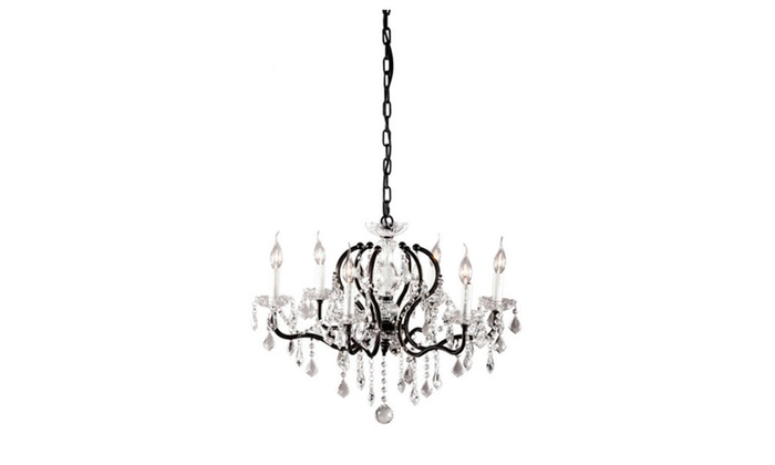 Zuo Home Decorative Gypsum Ceiling Lamp Distressed Black