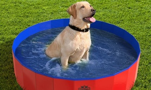 Foldable Pet Pool and Bathing Tub with Carrying Bag