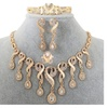 Elegant African Beads Tassel Crystal Women's Jewelry Set