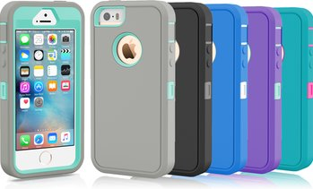 Protective Shockproof Defender Case Cover For Apple iPhone 5 5S 5C SE 6 6S Plus