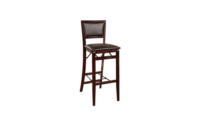 Outstanding Padded Back Folding Bar Stool Bralicious Painted Fabric Chair Ideas Braliciousco
