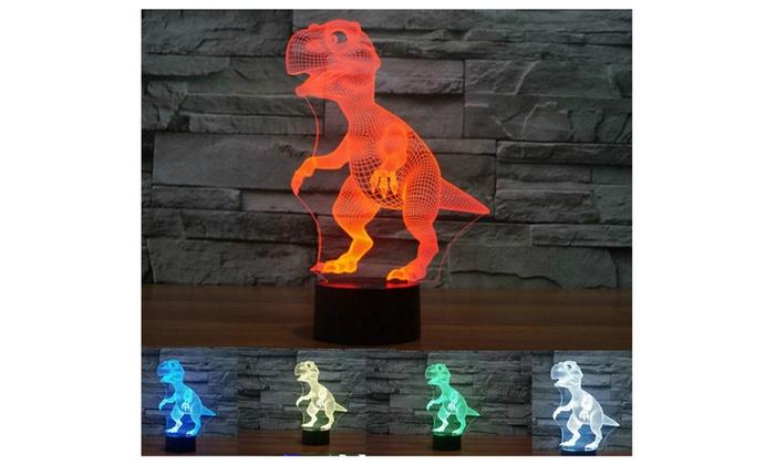 Dinosaur 3D LED illusion Night Light