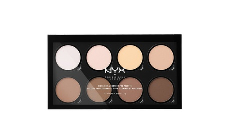NYX PRO Contour & Highlight Palette 8 Beautiful Colors New