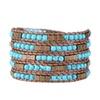 Egyptian Turquoise Wrap Bracelet