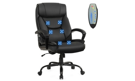 Big & Tall 500lb Massage Office Chair Executive PU Leather Computer Desk Chair