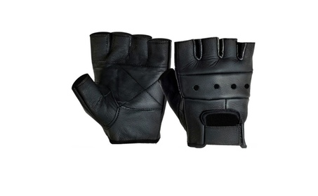 Mens Leather Fingerless Driving Motorcycle Biker Gloves 328d9503-bbaf-4639-9f8d-873e39ded721