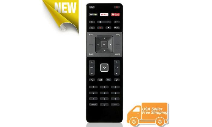XRT122 Remote for VIZIO E32-C1 E43-C2 E420-B1 E40-C2 w Amazon//Netflix//IHeart Key