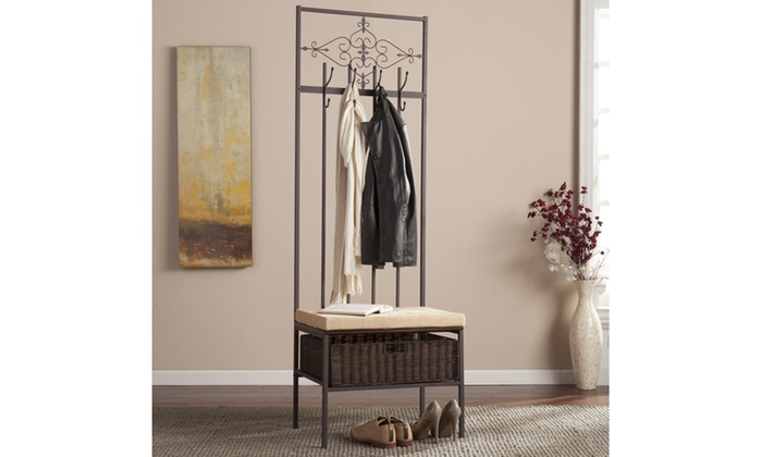 Foyer Table Macy S : Scroll hall tree bench groupon