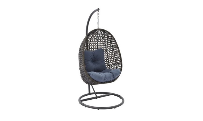 Remarkable Outdoor Wicker Hanging Chair With Stand Beutiful Home Inspiration Papxelindsey Bellcom