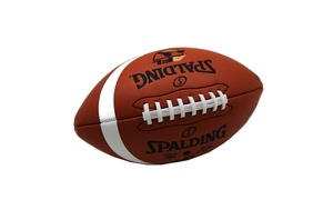"""Spalding Deflated 10-1/2"""" 2013 AFL Youth Camp Genuine Football Easy Grip"""