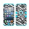 Insten Tuff Zebra Hard Silicone Case For Ipod Touch 5 6 Black White