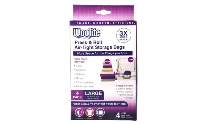 Wooliteu0027s 4 Piece Air-Tight Hand Roll Vacuum Storage Bags ...  sc 1 st  Groupon & Wooliteu0027s 4 Piece Air-Tight Hand Roll Vacuum Storage Bags | Groupon