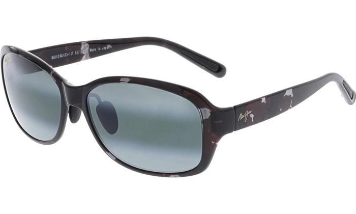 0ea1ccdb62ac Maui Jim Women's Polarized Koki Beach 433-11T Black Butterfly Sunglasses