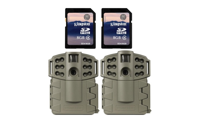 2 Moultrie Game Spy A5 Gen2 Low Glow Infrared Trail Cameras 2 SD Cards
