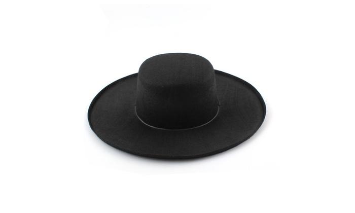 ... Spanish Bandit Zorro Hat Adult Costumes Halloween Party Fancy Dress ... da95212d5025