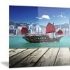 Hong Kong Harbor Photography Metal Wall Art 28x12