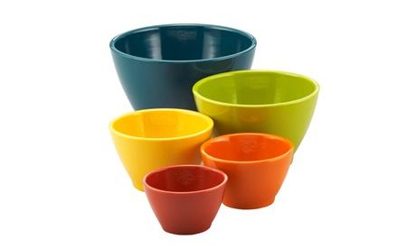 Rachael Ray(r) Melamine Nesting Measuring Cups 5-Piece Set Assorted 3bdb1ae4-a99d-466f-97c9-bff361019165