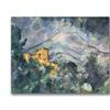 Paul Cezanne Montagne Saint-Victoire Black Canvas Print