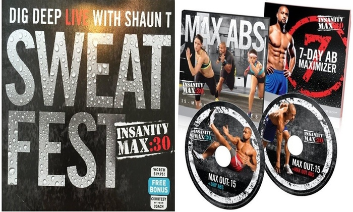 Up To 74% Off on Insanity Max 30: Fitness Work    | Groupon
