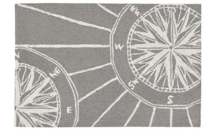 Liora Manne Frontporch Comp Indoor Outdoor Rug Grey