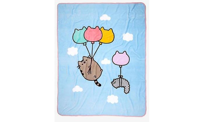 Pusheen The Cat Plush Printed Throw Blanket Groupon Impressive Pusheen Purrfect Weekend Throw Blanket