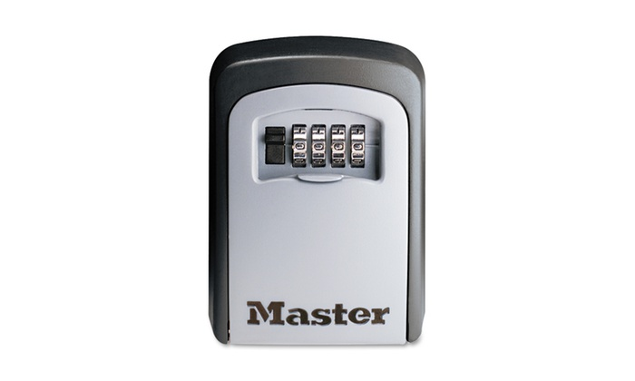 Master Lock Company Locking Combination 5 Key Steel Box, Black/Silver