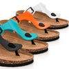 Rasolli Women's Footbed Thong Sandals