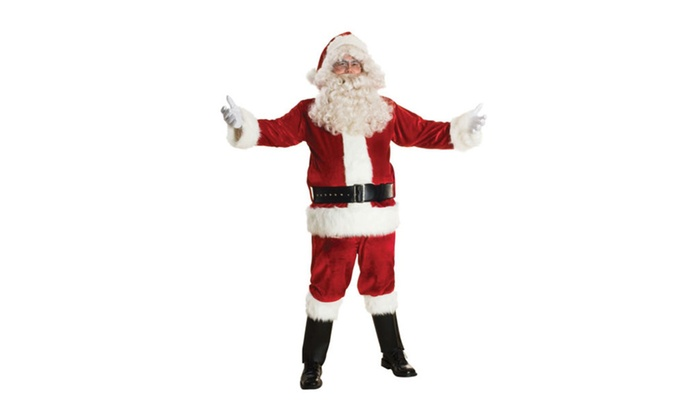 Sunnywood Men's Deluxe Santa Claus Suit Set Costume Red