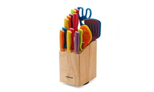 Farberware 18-Piece Slice and Store Knife and Kitchen Tool Set