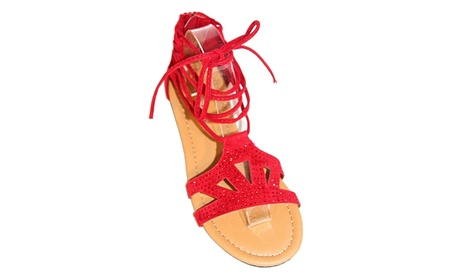 Women's Gladiator Lace Up Sandals e30e2145-a8e2-41f2-8e1d-3e00b55f88ec