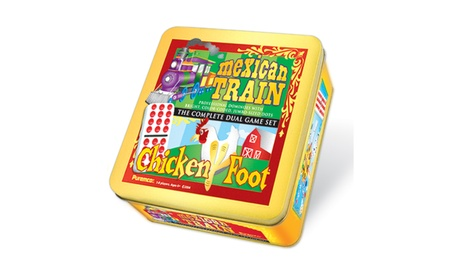 Mexican Train & Chickenfoot Dominoes - Complete Dual Game Set in a Tin dc31d3dd-316b-439a-b430-a3eaa9484cf3