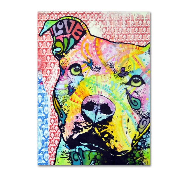 Dean Russo 'Thoughtful Pitbull II' Canvas Art