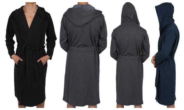 cfb1c491bd Regency Men s Cotton Sweatshirt Hooded Robe Style