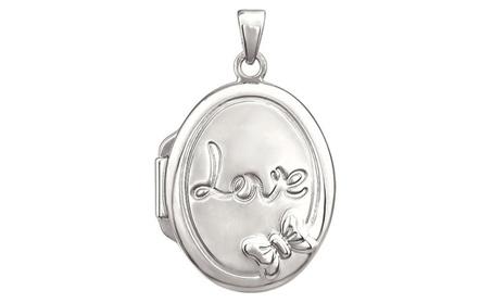 Sterling Silver Oval Love Locket ee802b18-0888-41f1-8035-9b8bfed08255