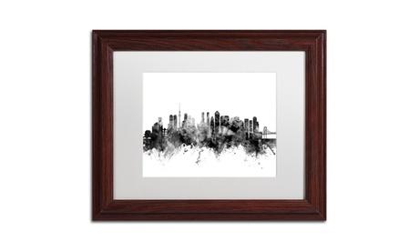 Michael Tompsett 'Tokyo Japan Skyline B' Wood Framed Art 7293a07a-09d6-44b2-8189-50737e28f39e