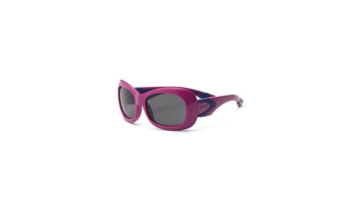 Real Kids Purple-Navy Flex Fit Smoke Lens 7plus Sunglasses