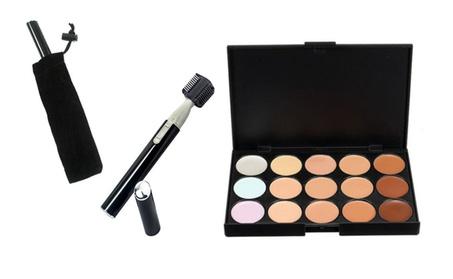 15 Colors Concealer & Facial Hair Trimmer With Blade Cap 2250cc73-8459-4de6-8e57-3769b55df8ad