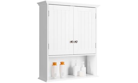 Costway Wall Mount Bathroom Cabinet Storage Organizer Medicine Cabinet White